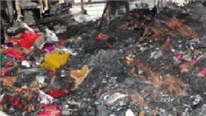 साड़ीकी दुकान में आग लगने से लाखों का नुकसान