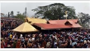 केरल मेंसबरीमाला मंदिर में श्रद्धालुओं की भीड़ उमड़ी