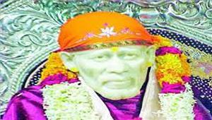 साईं मंदिर का स्थापना दिवस मनाया गया