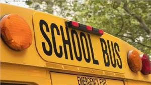 स्कूल बस के पेड़ से टकराने से 2बच्चे घायल