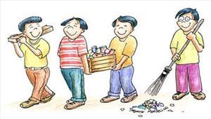 सोसायटी में चला स्वच्छता अभियान