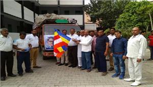 बसपा नेताओं ने सहारनपुर दंगो में प्रताड़ित लोगों के लिए भेजी राहत सामग्री