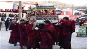तिब्बत के ल्हासा मेंबौद्ध जोखांग मठ में लगी आग