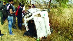 सड़क हादसे में सरंपच की मौत 1 घायल