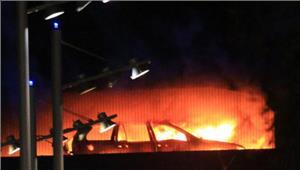 लंदन की बहुमंजिले कार पार्किंग में आग 1400 वाहन जलकर राख