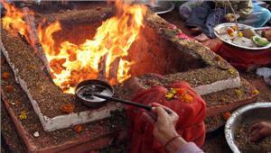 मध्य प्रदेश अयोध्या में राम मंदिर निर्माण के लिए हुआ महायज्ञ