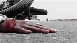 उत्तर प्रदेश वाहन की टक्कर से मोटरसाइकिल सवार व्यक्ति की मृत्यु