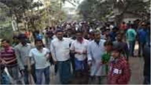 बंगाल  विरोध प्रदर्शन में हिंसा  प्रदर्शनकारी की मौत