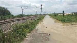 बाढ़ के चलतेरेलमार्ग लगातार 11वें दिन भीबंद