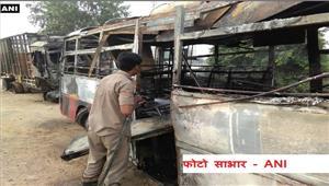 उत्तर प्रदेश के बरेली में बस और ट्रक की भिड़ंत 20 यात्री जिंदा जले
