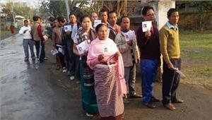 मणिपुर में पहले चरण में 80 फीसदी मतदान